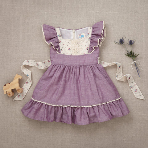 Flutter Dress - Lavender Linen