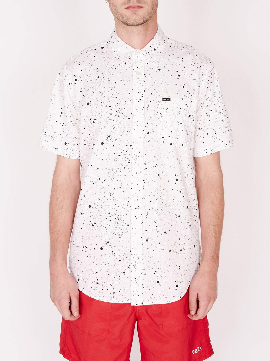 obey camicie,Hanover Woven Ss White Multi, image 1