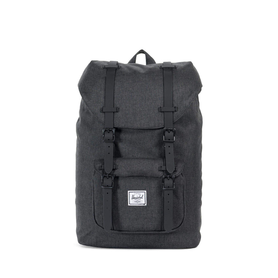 herschel zaini,Little America Mid-Volume Black Crosshatch/Black, image 1