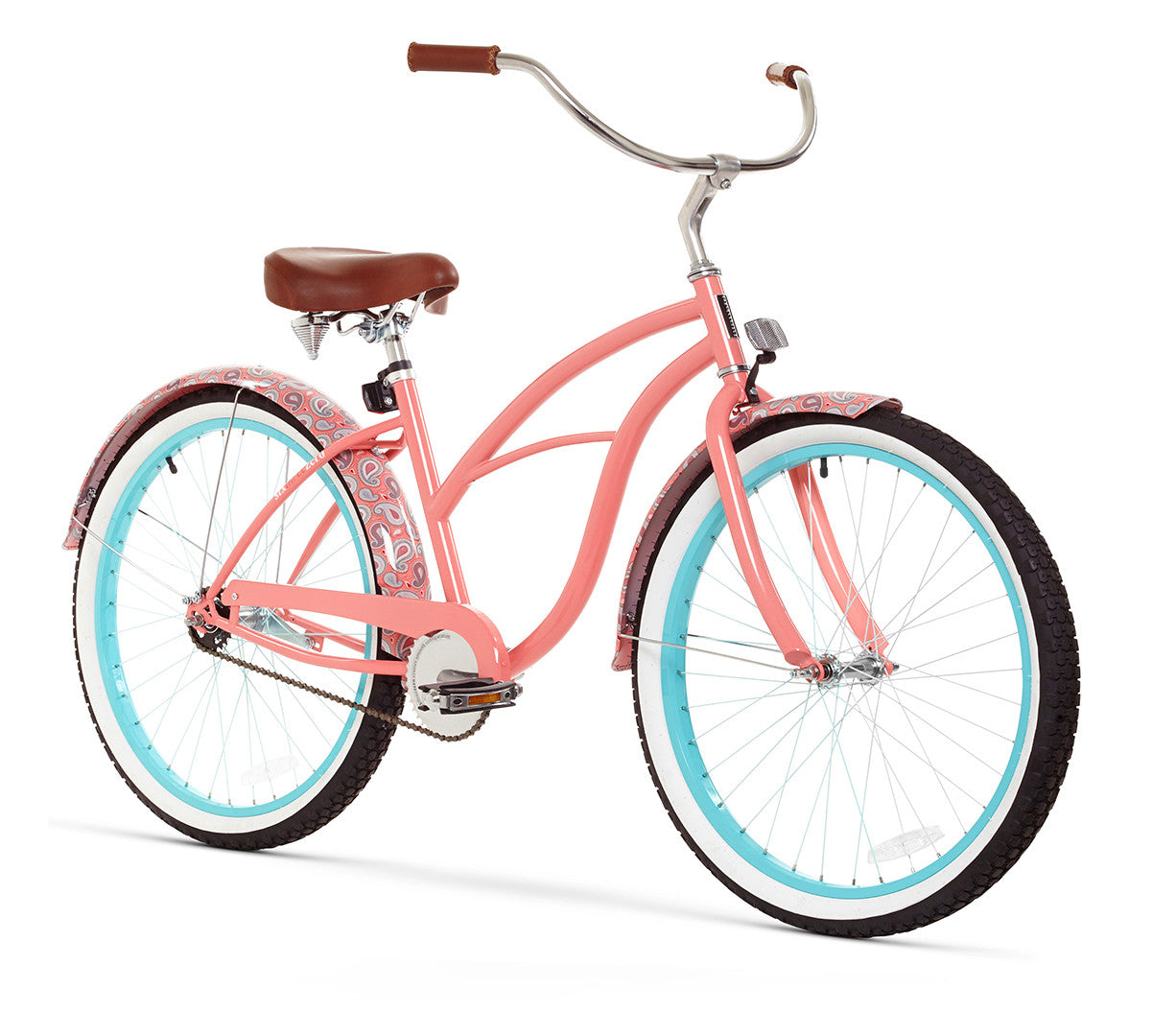 "sixthreezero Paisley Single Speed 26"" Women's Beach Cruiser Bike"