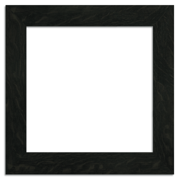 12x12 Ebony 2-inch Oak Park Frame - Single Opening