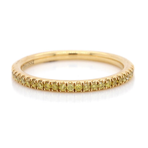18K Yellow Gold Yellow Sapphire and Black Rhodium Eternity Band