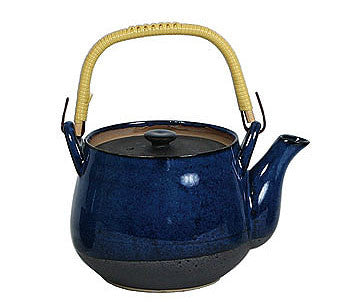 Namako - Japanese kiln fired black and gray ceramic tea pot 40 ounces
