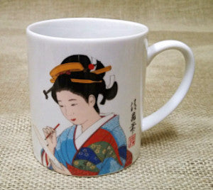 Japanese Geisha Mugs Assorted Styles.
