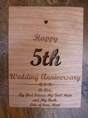 Personalised Wooden Greeting Cards : Wood Cards