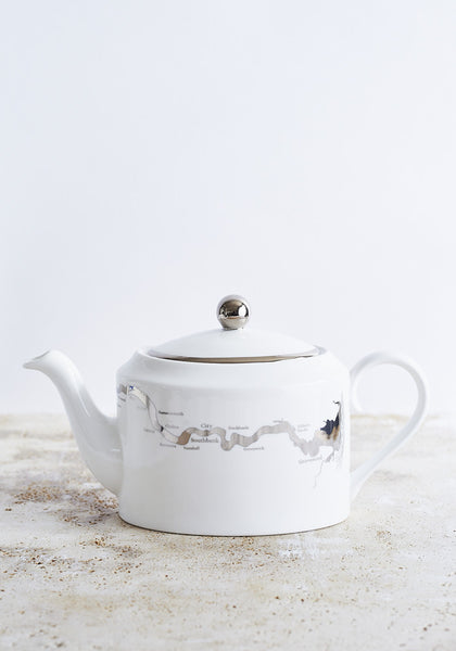 River Thames Teapot in Platinum