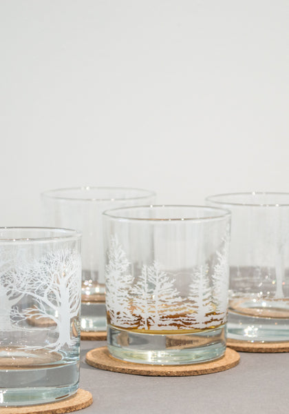 White Tree Glasses Set