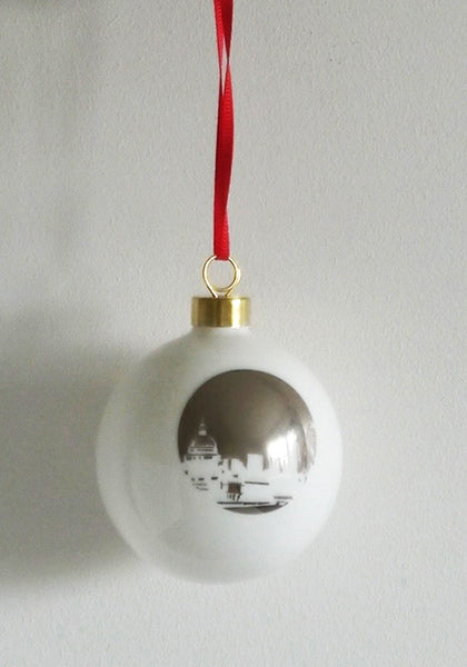 St.Pauls Riverside  Bone China London Landmark bauble