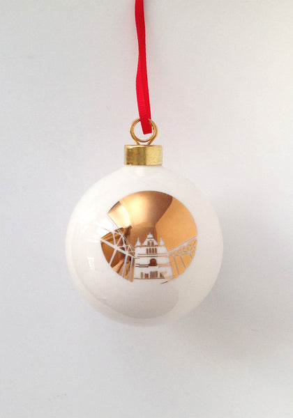 Tower Bridge Bone China London Landmark bauble