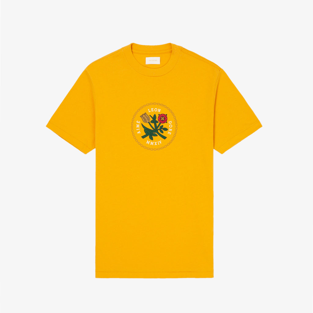 SS HOME CREST TEE-YELLOW