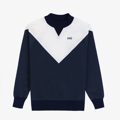 Water-Repellent Pull Over - Navy/White - Outerwear Aimé Leon Dore