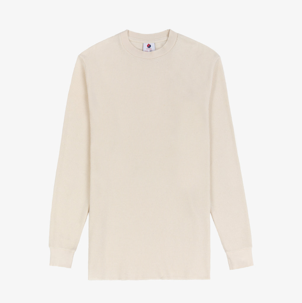 LS Distressed Waffle Thermal- Natural - Shirt Aimé Leon Dore