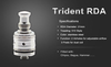 Trident RDA Atomizer Kit with Coils, Wick, and Screwdriver (Clone) - Big D Vapor - 3