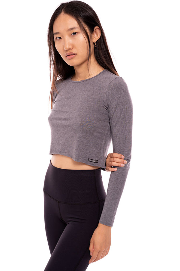 Bamboo Long Sleeve Crop