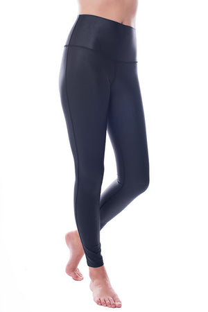 High Rise Matte Black Leggings