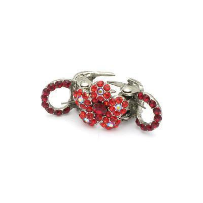 Soho Style value set Red / Pair Mini Spring Flower Hair Jaw