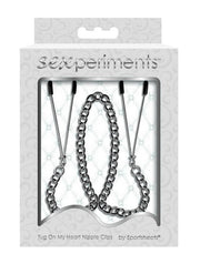 Sexperiments Tug On My Heart Nipple Clips by Sportsheets