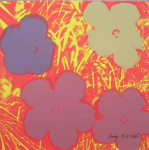 Andy Warhol Flowers signed lithograph authenticated print