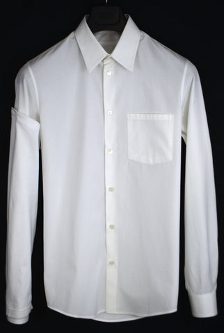 2003 Fine Cotton Slim Shirt with Asymmetric Knit Sleeve
