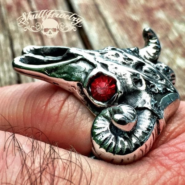 'Ramble On' Big, Bold & Heavy Ring w/Red Eyes