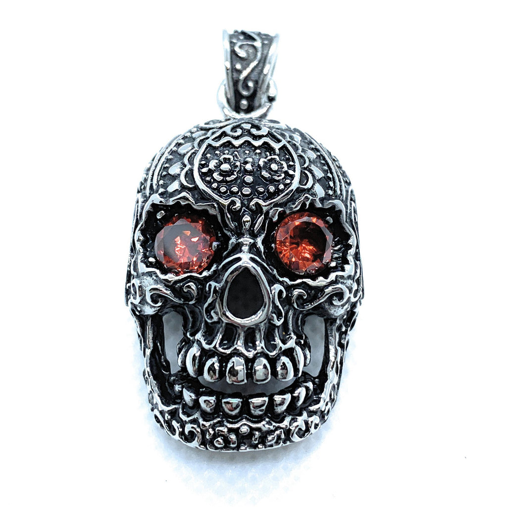 'Seeing Red' Skull Pendant w Red Eyes (p109)