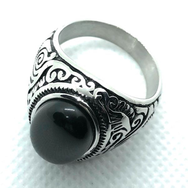 'Night Moves' Stainless Steel Ring