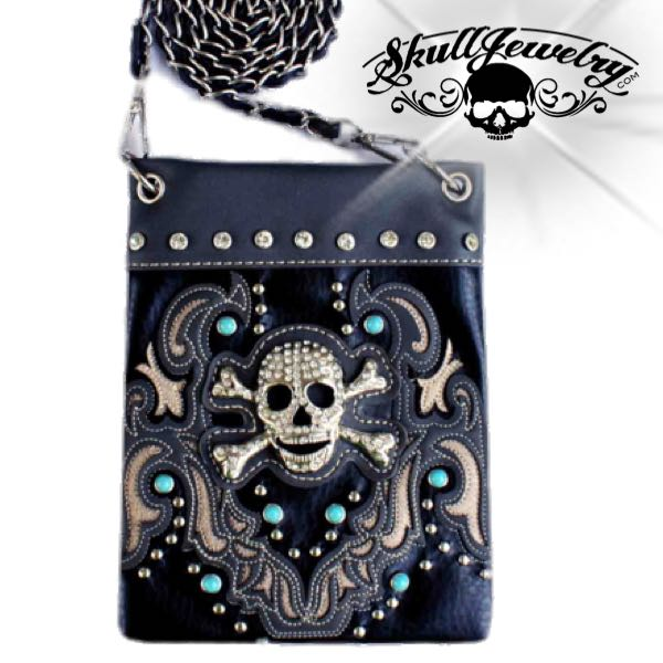 skull and bones messenger bag