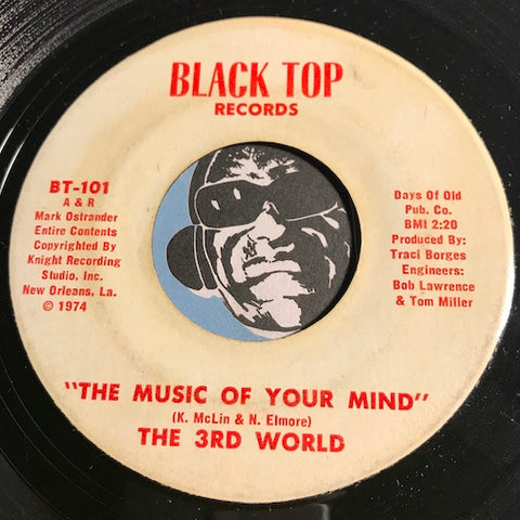 3rd World - The Music Of Your Mind b/w Patience - Black Top #102 - Funk