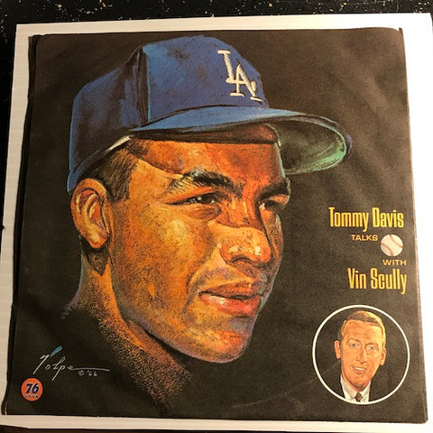 Vin Scully - Dodgers - Tommy Davis Talks with Vin Scully b/w Ron Perranoski Talks with Vin Scully - Dodger Record Library #12/16 - Novelty