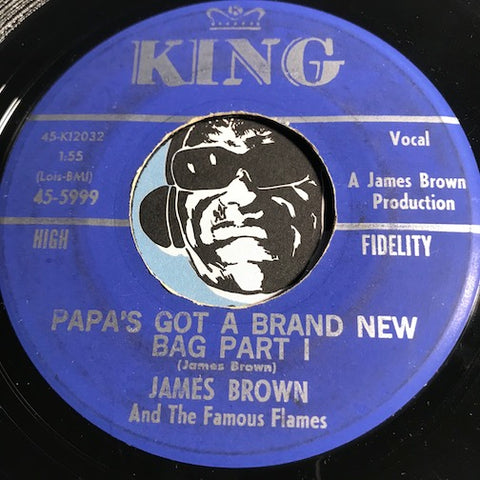 James Brown - Papa's Got A Brand New Bag pt.1 b/w pt.2 - King #5999 - Funk
