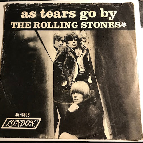 Rolling Stones - PICTURE SLEEVE ONLY - As Tears Go By b/w Gotta Get Away - London #9808 - Rock n Roll