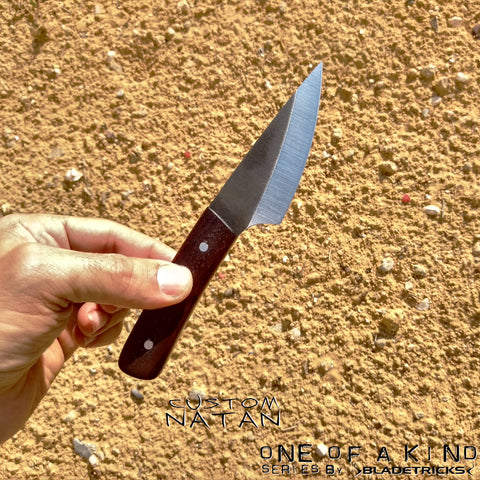 BLADETRICKS CUSTOM NATAN KNIFE, EXOTIC WOOD VERSION