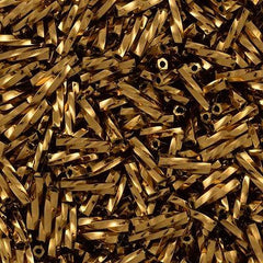 Toho 9mm Twisted Bugle Seed Bead Bronze 15g (221)