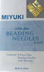 Miyuki Six Extra-Fine Beading 0.4 Needle Kit Assorted Lengths