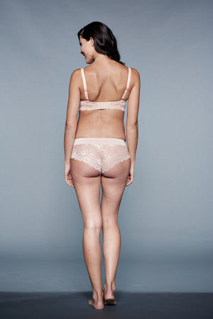 Back Shot of Flirty You! Nude Maternity Panty