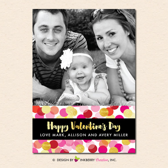Confetti Love - Valentine's Day Photo Card - inkberrycards