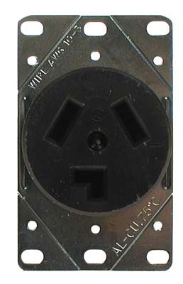 16156-G1 Dc Receptacle 3 Blade - Ezgo Electric