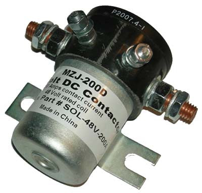 20520 48 Volt 200 amp, 4 terminal solenoid with silver oxide contacts - Club Car Electric