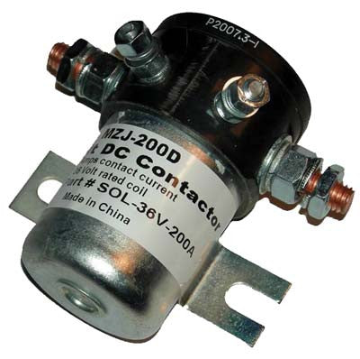 20523  36 Volt 200 amp, 4 terminal solenoid with silver oxide contacts - Club Car Electric