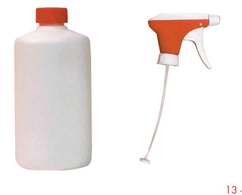 890.7 500 ml / 1/2 Litre Bottle & Spray Adapter