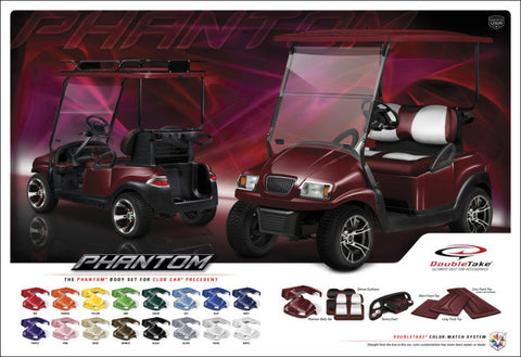 Club Car Precedent Phantom body kit available in 16 colours