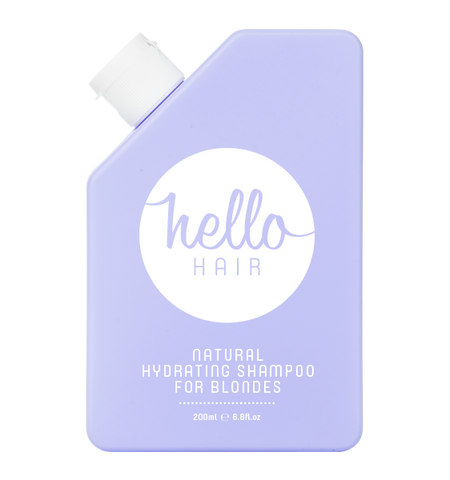 HELLO HAIR NATURAL HYDRATING SHAMPOO FOR BLONDES 200mL