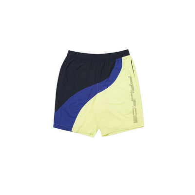 WAVE RUNNER SHELL SHORTS YELLOW / BLUE / BLACK