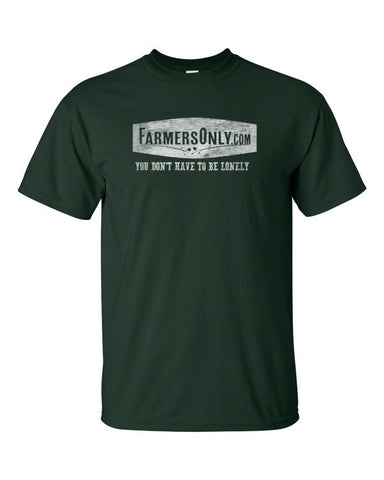 FarmersOnly Distressed Lonely Logo- Men's T-Shirt