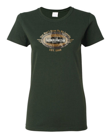 FarmersOnly Distressed EST 2005 Logo- Ladies Tee