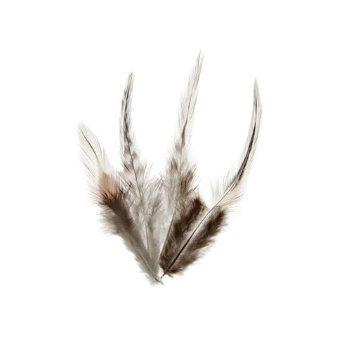 Rooster Saddle Hackle Feathers Natural 20g