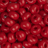 2/0 Czech Seed Beads Opaque Medium Red 22g - i-Bead,  MED RED