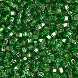 10/0 Czech Seed Beads Silver Lined Lime Green 500g - i-Bead,  LIME GREEN