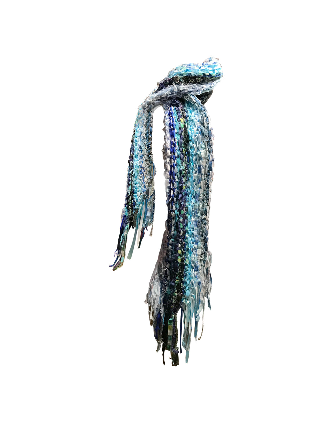 Knitted Blue Scarf
