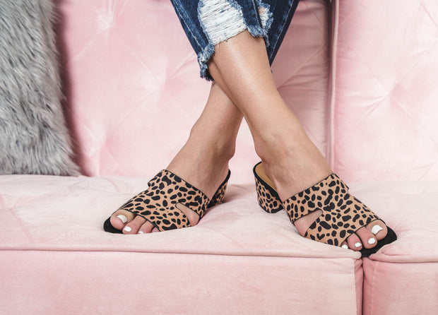 Check out the Katz-78 by Qupid, these leopard sandal heels.